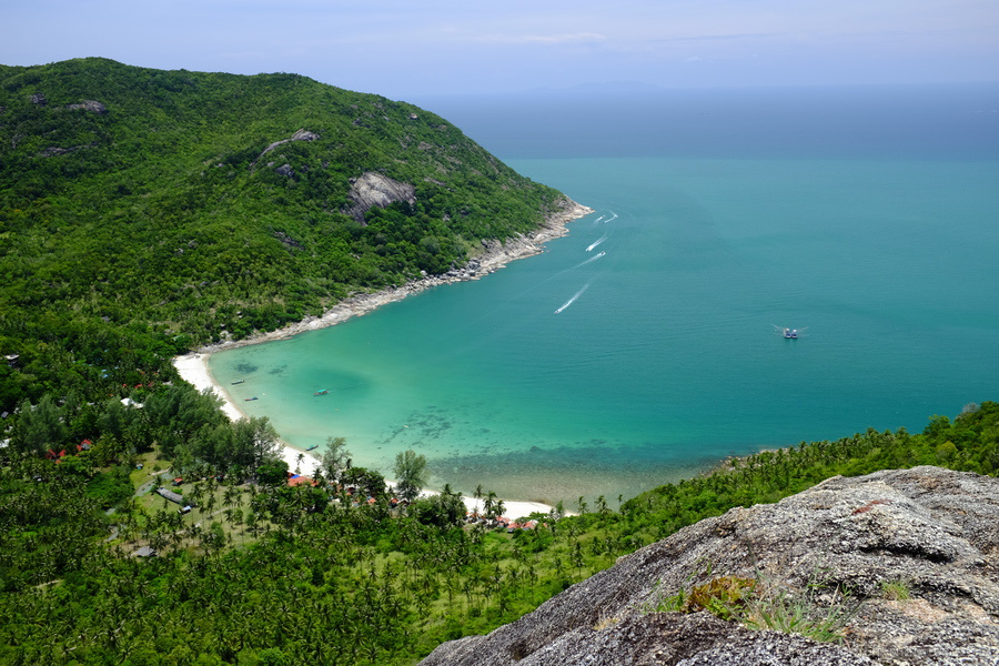 View over Bottle Beach on Ko Phangan.