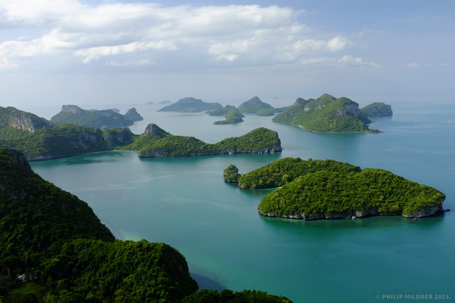 View over the Ang Thong marine park.