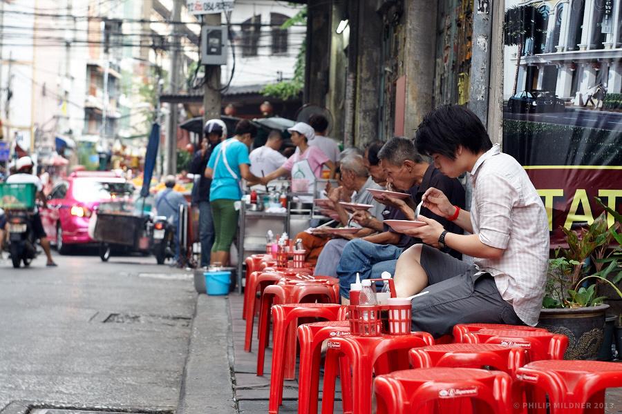 Street restaurant in Bangkok.