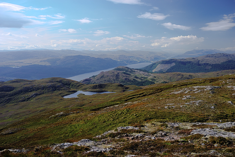 View over the southern side of Loch Ness from Meall Fuar-mhonaidh.